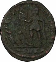 CONSTANTIUS II son of Constantine the Great w labarum Ancient Roman Coin i45867