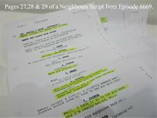 TV Show Neighbours Collectable memorabilia 3 pages of a script Episode 6669 Lot2