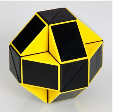 Yellow Transformable Brain Teaser Magic Cube Ruler Speed Twist Toy Snake Puzzle