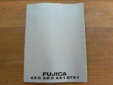 FUJI FUJICA AX-5,AX-3,AX-1,STX-1 SPIEGELREFLEX CAMERA'S  BROCHURE,PROSPEKT 1979