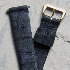 Lungo NOS Vintage Orologio cinturino Originale Selvatico Bisonte 11/16 Fine (