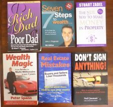 6 Property Investing / Building Wealth Books - GREAT BULK LOT