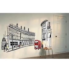 Removable DIY Decor Home Room Mural Roman Street Type Wall Sticker Art Decal