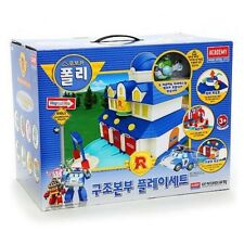 NEW Robocar Poli Rescue Center Station Play Set With Jin Figure