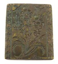 Genuine Vintage Bell Metal Mould Stamp Wax Dye Jewelry Making Tool. G46-220 US
