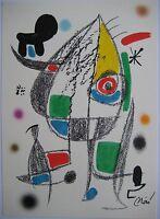 MIRO JOAN LITHOGRAPHIE 1975 SIGNÉ CRAMER 1072 ORIGINAL SIGNED LITHOGRAPH 1500 EX