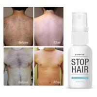 Unisex Herbal Permanent Hair Growth Inhibitor Hair Removal Cream Essence 20ml