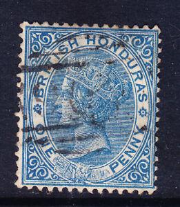 BRITISH HONDURAS QV 1884 SG17 1d blue - wmk CA - perf 14 - fine used. Cat £25