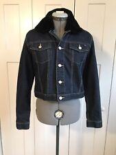 Tommy Hilfiger NWOT Black Faux Fur Collar Denim Jean...