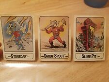 Masters of the Universe Trading Card ETERNIA PLAYSET 1986 Lot of 3 he man