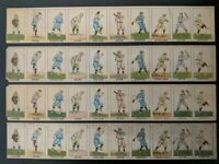 exCeedIngLy Rare - 4 uncut strips of W552 1919 Mayfair Baseball Positions Cards