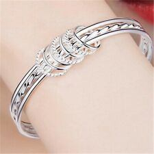 925 Sterling Silver Bracelet three-coil Style Women's Jewelry Gift