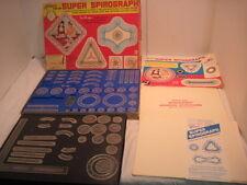 B VINTAGE 1969 SUPER SPIROGRAPH  # 2400 KENNER DESIGN GAME ORIG BOX EXTRA PIECES