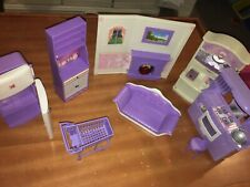 lot of vintage barbie furniture Color Purple !