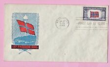USA 1943 FDC - NORWAY Flag -  Cds WASHINGTON  & FIRST DAY Slogan