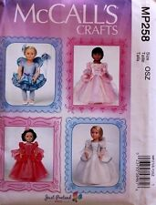 """18"""" GIRL DOLL CLOTHES/COSTUME McCalls Sewing Pattern MP258 American Made NEW"""