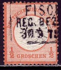 DEUTSCHES REICH Mi. #18 Brustschild Shield stamp w/ late cancel! #2 CV $120.00