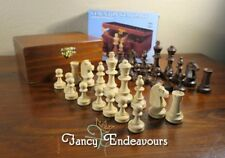 NIB Wegiel Staunton Standard No. 4 Chess Set Wood Chessmen Poland