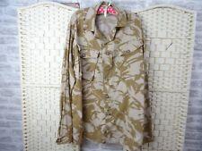 army style unlined camouflage shirt jacket  cotton desert sand  size XXL  J16