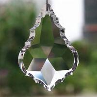 10 pcs Maple Leaf Crystal Glass Prisms Drop Pendant Chandelier Lighting Parts