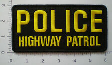 CA California State Highway Patrol Police trooper LARGE VEST patch
