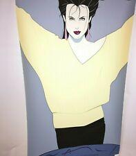 "Original Patrick Nagel 24""x36"" Serigraph Print Poster 1984 Dumas Mirage Edition"