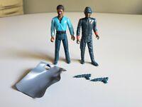 Vintage Star Wars Lando and Black Bespin Guard 100% Complete ESB Kenner 1980