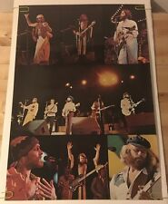 Vintage Beach Boys Collage Poster 1970's Pin-Up Rock & Roll Music Memorabilia