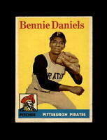 1958 Topps Baseball #392 Bennie Daniels (Pirates) EX+