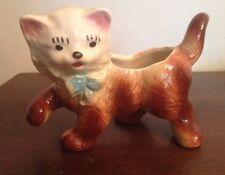 Vintage Ceramic Kitty Cat Figurine Planter or Vase