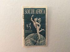 1949 South African 1/2p Postage Stamp, Sideways Watermark, Used