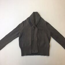 CK Calvin Klein Jumper Cardigan 100% Cotton Button Long Sleeve Knit Chunky Sz XS