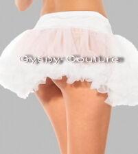 White burlesque moulin rock dance rockabilly tutu petticoat skirt halloween