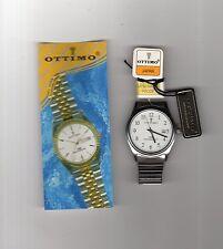 orologio uomo Ottimo Japan,bracciale inox,quadrante bianco a6234 30 atmosfere