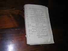 1810.catalogue de livres fin 18e début 19e