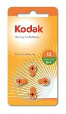 4 Pack Kodak Hearing Aid Battery Size 13 (PR48, K13ZA) 1.45V EXP 2018