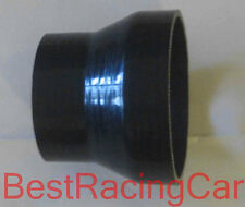 "3.5"" to 4"" Silicone Straight Reducer Coupler Hose Turbo, Black"