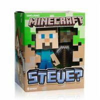 JINX Minecraft Steve Vinyl Action Figure + Grass Block & Pickaxe Collectable