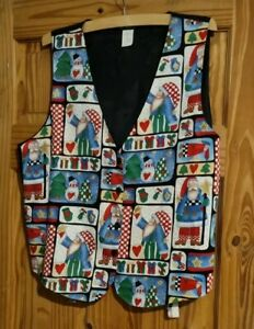 Christmas Waist Coat.  22 Inches Pit To Pit