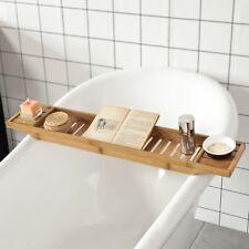 SoBuy® L80 cm Bamboo Bathtub Rack Caddy Tray, Bathroom Shelf Bridge, FRG212-N,UK