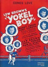 "Buddy Ebsen ""YOKEL BOY"" Judy Canova / Phil Silvers / Lew Hearn 1939 Sheet Music"