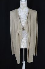 Calvin Klein Womens Small Gold Long Sleeve Open Cardigan NEW Layering Sweater