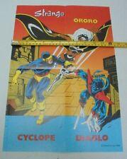 Poster Comics Strange Marvel ed; Lug 1986 ORORO CYCLOPE DIABLO - Parfait état