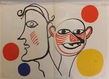 Alexandre Calder 2 Personnages 1976 Lithographie pour Revue Derrière le Miroir