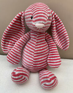 Jellycat Special Edition Eloise Bashful Bunny Rabbit Soft Toy Striped Red Grey