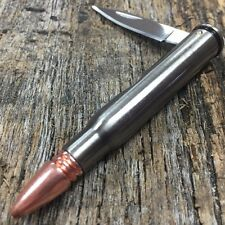 30-06 Bullet Pocket Knife Hand Gun Cartridge #bullet Stainless Steel SPRG New!