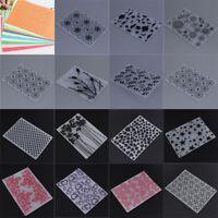 Plastic Embossing Folder Template Mold Scrapbooking Paper Cards Decor DIY Crafts