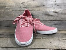 City Sneaks Light Red Canvas Sneakers With Striped Laces, Women's 6 1/2 Shoes