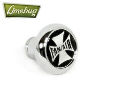 Chrome Deluxe Dash Knob Switch Fan/Air Iron Cross VW Camper Beetle Buggy T1 Bus