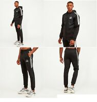 Kings Will Dream KWD Mens Poly Tracksuit Top Hoodie Gym Joggers Lunwell Black